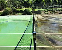 Pressure Cleaning Tennis Courts